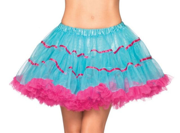 80's Blue and Pink Tutu Skirt