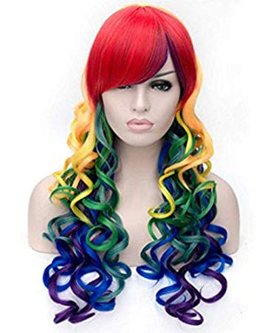 Rainbow Curly Deluxe Wig