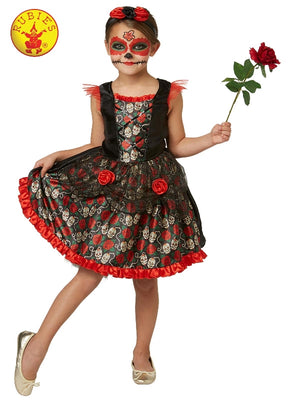 Girls Pretty Day of the Dead Costume