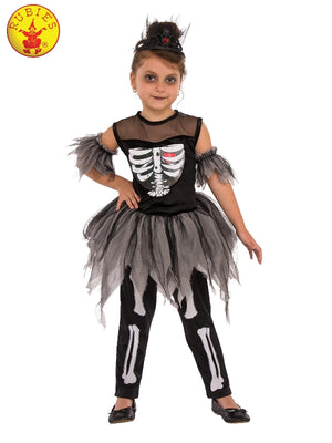 Girls Skeleton Ballerina Costume