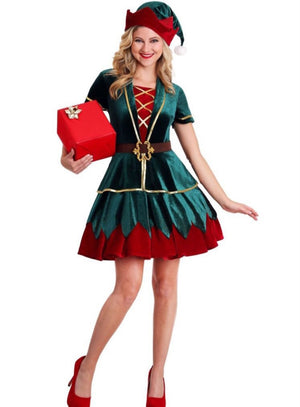 Deluxe Ladies Christmas Elf Costume