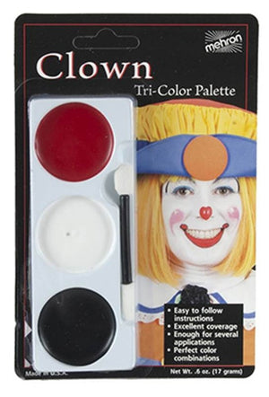 Tri-Colour Makeup Palette: Clown