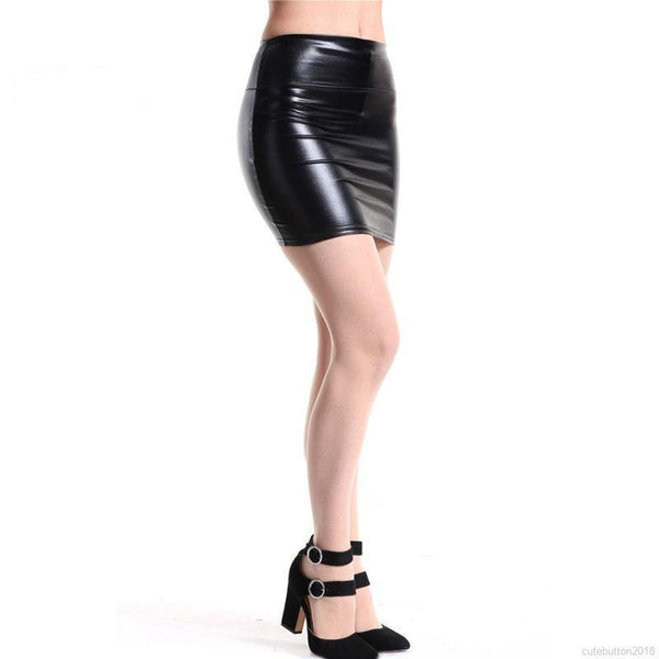 Black Metallic Skirt