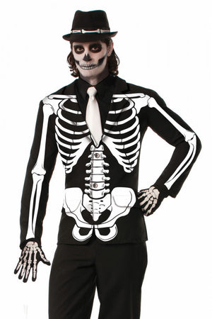 Skeleton Print Costume Jacket