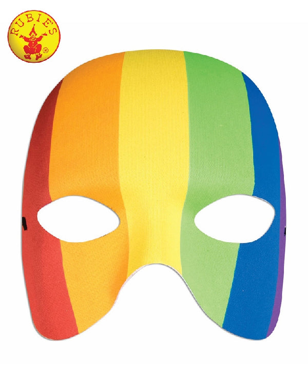 Striped Rainbow Half Mask