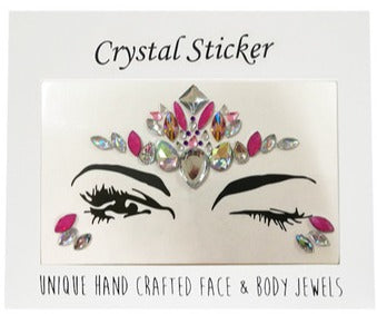 Fairy Fuchsia Crystal Face & Body Jewels