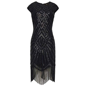 BEADED CAP SLEEVE great gatsby dress