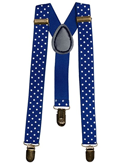 Blue Polka Dot Suspenders