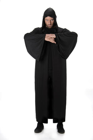 Plain Black Hooded Robe