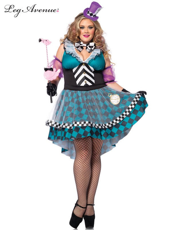 Leg Avenue: Manic Mad Hatter Costume - Plus Size