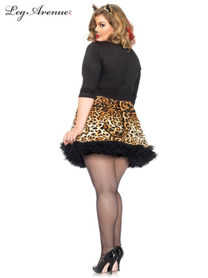 Plus Size Leopard Kitty Costume