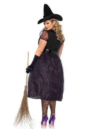 Plus Size Glittery Witch Costume