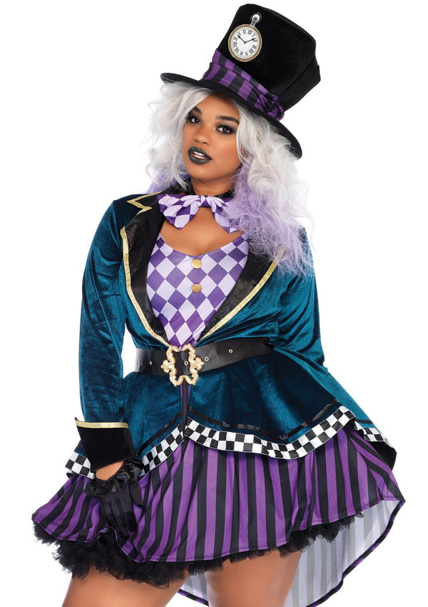 Plus Size Ladies Mad Hatter Costume