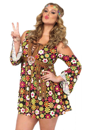 Leg Avenue: Sunflower Hippie Costume - Plus Size