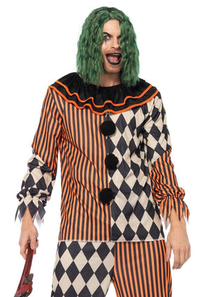 Men's Creepy Circus Clown Costume