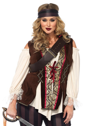 Captain Blackheart Plus Sized Pirate Costume