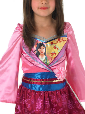 Girls Mulan Glitter Costume