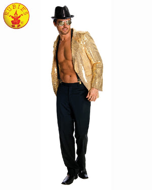 Men's Gold Sequined Jacket