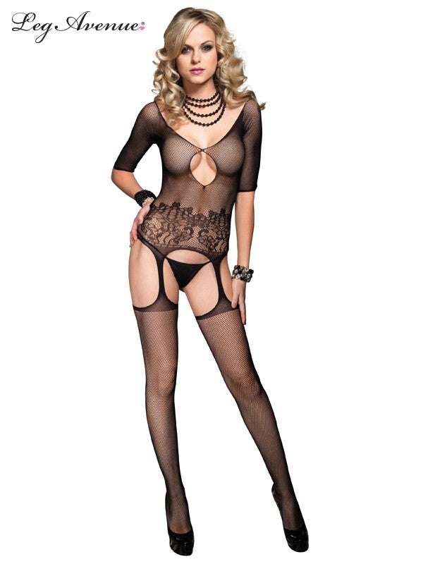 Sexy Mesh Cut-out Body Stocking