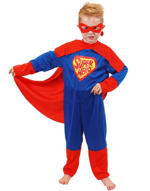 Boys Blue and Red Superhero Costume