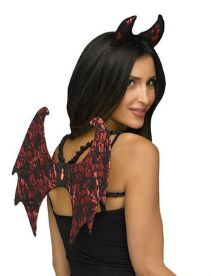 Devil Lace Wings and Horns Set