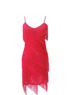 Hot Pink Fringed 1920's Dress