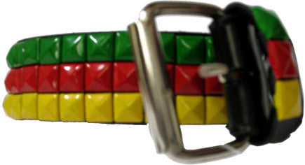 Rastafarian Coloured Studded Belt
