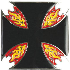 Iron Cross with Flame Belt Buckle