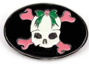 Cute Skull and Crossbones Belt Buckle