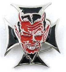 Devil on Iron Cross Belt Buckle