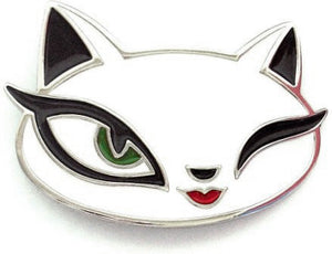 White Cat Belt Buckle