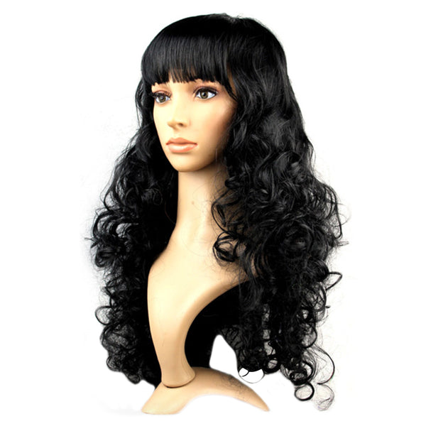 Curly Black Party Wig