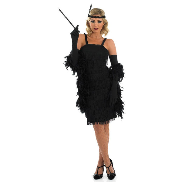 Plus Size Black Flapper 20s Dress