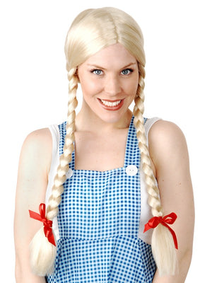 Long Blonde Plaits Wig