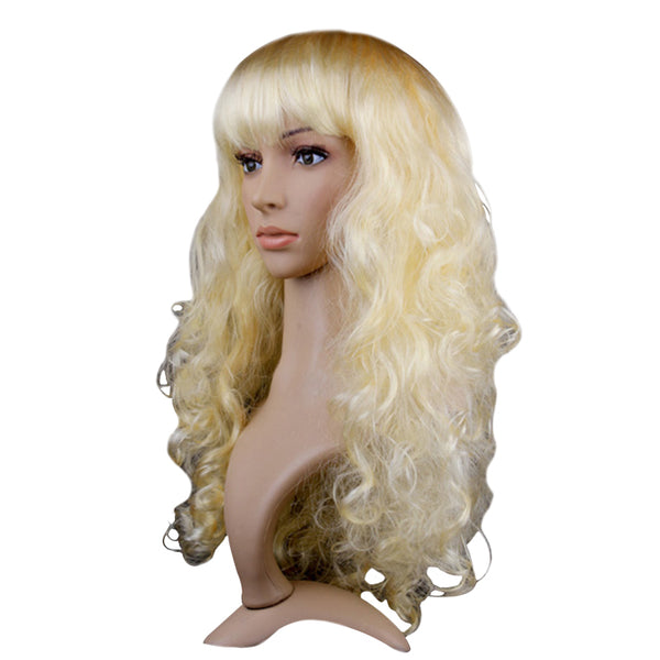 Curly Blonde Party Wig