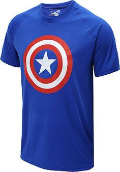 Blue Captain America T-Shirt