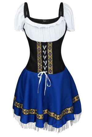 Blue Oktoberfest Costume with Tassles