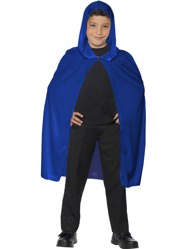Blue Velvet Hooded Cape