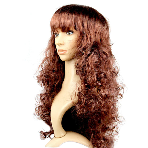 Curly Brown Party Wig
