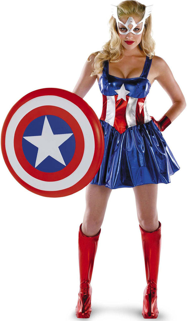 Women Captain America Costume