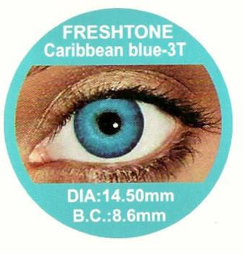 Freshtone Caribbean Blue Contact Lenses