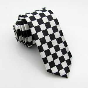 Black and White Checked Necktie