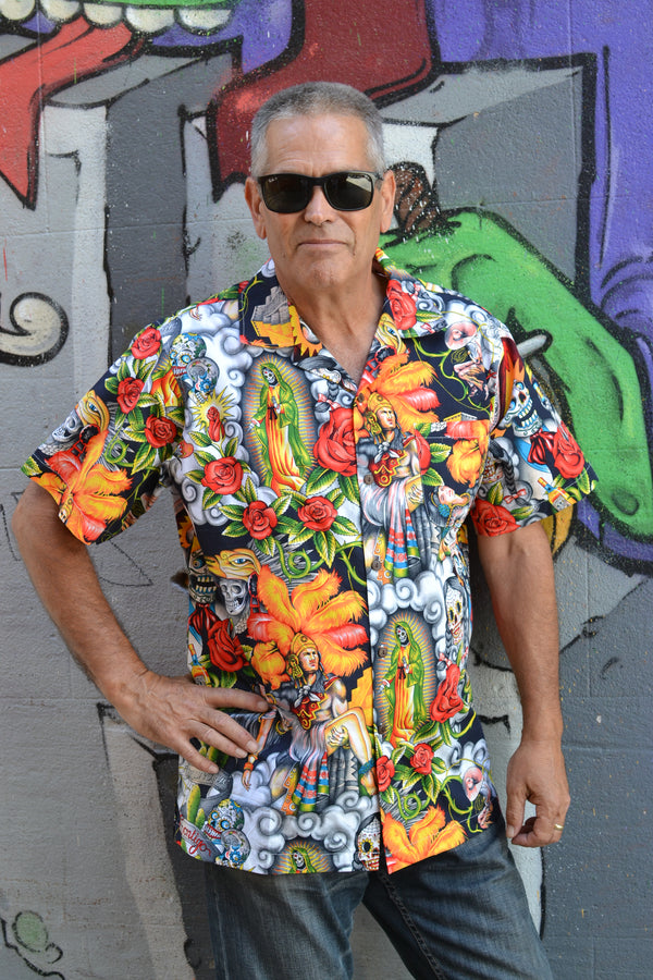 Tropical Mexican Button Down Shirt