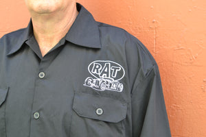 Billy Eight Rat Hot Rod Embroidered Button Down Shirt