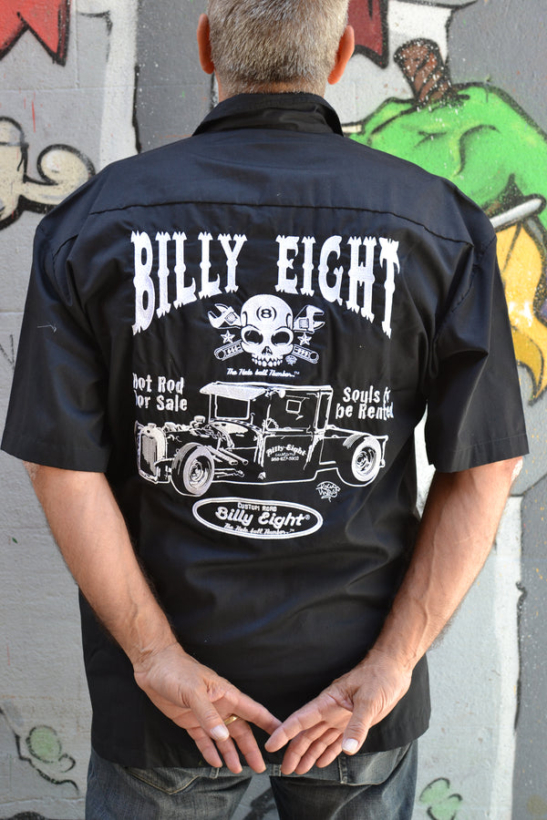 Billy Eight Hot Rod Embroidered Button Down Shirt
