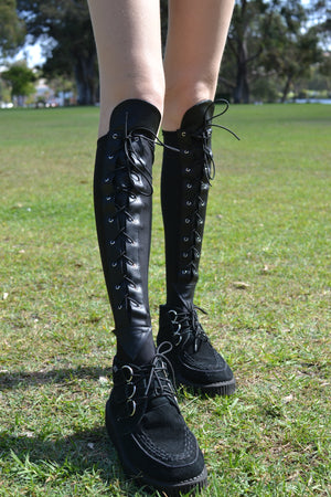 Lace-up Under the Knee Stockings