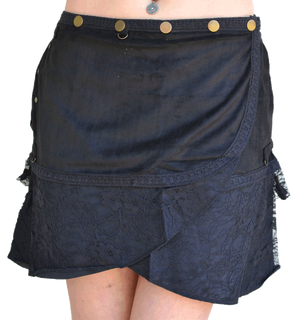 Black Wanderer Boho Skirt