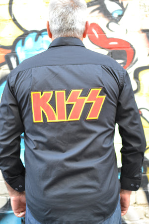 Long Sleeved KISS Button Down Band Shirt
