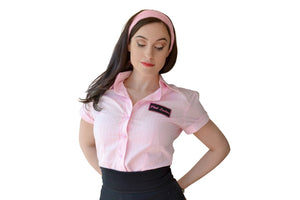 Grease: Pink Ladies Button Up Shirt