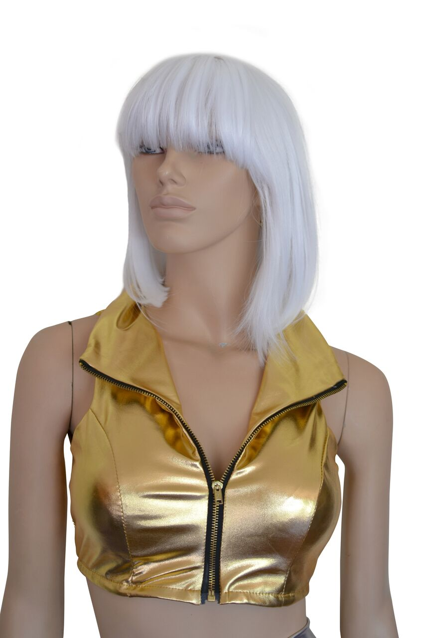 c9180dabb7bf1 Metallic Gold Zip Crop Top Perth | Hurly Burly - Hurly Burly ABN 77080872126